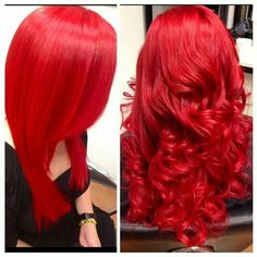 OMG I had red hair like this I miss it❤!!! Love red ♡