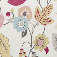Stylish quality designer fabric ideal for drapery from the 'Folia' design style range by Charles Parsons Interiors Floral Curtains, Drapery Fabric, Curtains Or Roman Blinds, Clarke And Clarke Fabric, Made To Measure Curtains, Textile Fabrics, Fabric Patterns, Fabric Design, Upholstery
