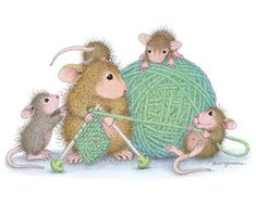 Monica, Amanda and friends from House-Mouse Designs®. Click on the image to see all of the very mice products that this image is available on.