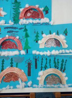 50 Super Cute Winter Crafts For Kids - This Tiny Blue House Bear Crafts Preschool, K Crafts, Animal Crafts For Kids, Winter Crafts For Kids, Preschool Activities, Preschool Winter, Winter Thema, Polo Norte, Winter Art