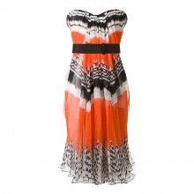 Alexander McQueen ~ Multi Silk Bustier dress