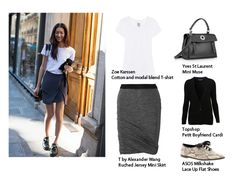 No Strings Attached No Strings Attached, Zoe Karssen, White Tees, Boyfriend, Mini Skirts, Topshop, Loft, Lace Up, Casual