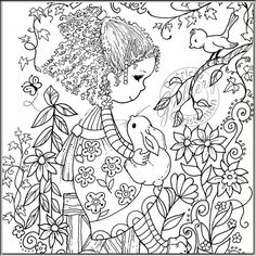Grown up Adult Coloring Book Pages Digital by PChristensenGallery