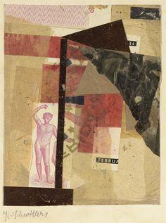 Kurt Schwitters (German, 1887-1948), Ohne Titel (Apollo im Februar), 1930-31. Collage on card laid down on the artist's mount, Image: 18.4 x 14.2 cm. Artist's mount: 29.2 x 23.8 cm.