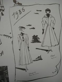1036 Coco CHANEL Fashion Design Sketch