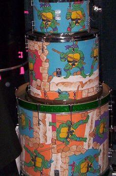 Ninja Turtle drum set. Custom made by Truth Custom Drums