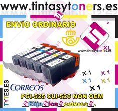5 X COMP.CANON PIXMA Pgi 525 Cli526 CON CHIP IP 4850 MG 8150 MG 6150 PGI525 526