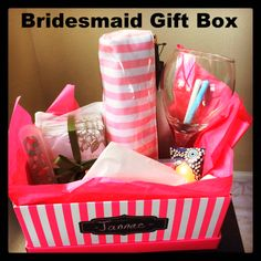 Bridesmaids Gift Box : Gift idea for your bridesmaids — According to D