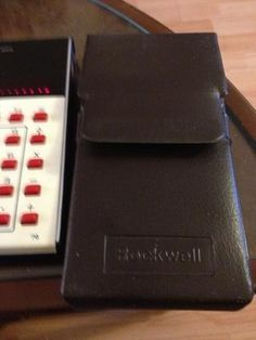 $16.65 2013 Excellent condition 1976 Rockwell calculator in brown leather look case with original '76 manual No reserve Posted with eBay Mobile