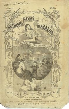 Arthur's Home Magazine, August 1861 (black and white version also available on the site)