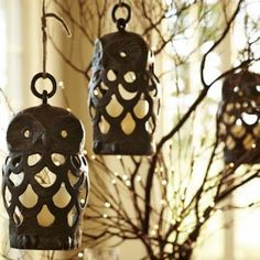 Owl Lanterns from Pottery Barn.