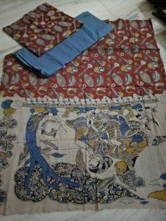 Kalamkari cotton dress materials. Click here to buy https://www.moifash.com/south-ethnicz/product?id=590888da6a3de5384167bb71
