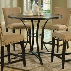 Acme Furniture Byton Counter Height Dining Table From Hayneedle Com
