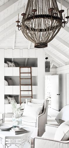 = bunks, ladder and pendant = Hamptons