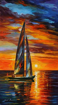 SAILING WITH THE SUN - LEONID AFREMOV by Leonidafremov.deviantart.com on @DeviantArt