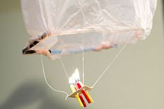 How to make a mini, flyable hot air balloon with candles.