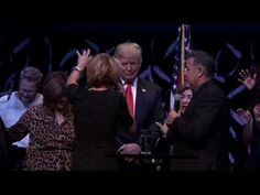 Trump being prayed over at the International Church of Las Vegas 10/30/16 - YouTube