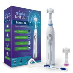 Buy Triple Bristle Go Travel Sonic Toothbrush - AA Battery Charged, Perfect For On The Go Life Style -. Beauty Products Gifts, Sonic Electric Toothbrush, Clever Gadgets, Mens Diamond Wedding Bands, Dental Floss, Amazon, Utah, Traveling, Sleep