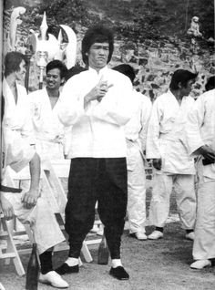 BRUCE LEE DURING THE MAKING OF ENTER THE DRAGON