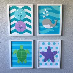 A personal favorite from my Etsy shop https://www.etsy.com/listing/459882328/sea-nursery-art-beach-themed-framed-set