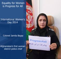 In Afghanistan, Colonel Bayaz is the first woman district police chief! #progress4all www.undp.org/focusonwomen