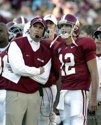 Coach Mike Shula & Brodie Croyle