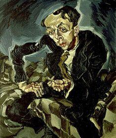 Ludwig Meidner, Portrait of Willie Zierath, 1914  German Expressionism