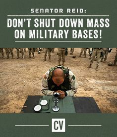 A sign at a military chapel reads: 'Shutdown: No Catholic service till further notice'.  --Contact your Senators NOW to let priests back on military bases to say Mass for our troops!