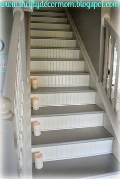 """Valspar Porch & Floor Paint """"Wet Pavement"""" I like the colors, not the bead board."""