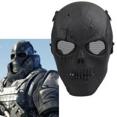 Army Skull Skeleton Airsoft Paintball Protect Game Face Guard Mask EUR 14.59 suck it facial recognition software