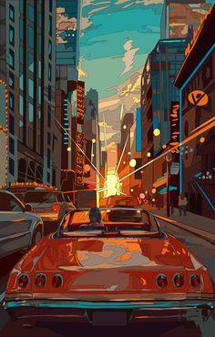 art kawaii - Japanese Illustrator BerryVerrine Dazzles With Awesome Retrowave Kawaii Art Psychedelic Art, Aesthetic Anime, Aesthetic Art, Aesthetic Japan, Cute Wallpapers, Wallpaper Backgrounds, Wallpaper Art, Wallpaper Awesome, Scenery Wallpaper