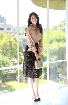 Korean Women`s Fashion Shopping Mall, Styleonme. Asian Fashion, Fashion Tips, Fashion Design, 2000s Fashion, Fall Fashion, Style Fashion, Modest Fashion, Fashion Dresses, Vintage Mode