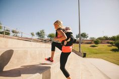 Heidi Powell demonstrates her workout while babywearing | Heidi Powell blog | #babywearing #ergobaby #ergobaby360