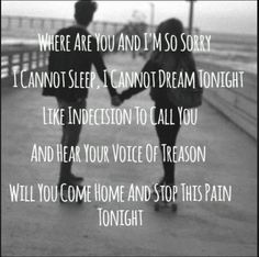 I miss you- Blink 182. We knew this whole album by heart because Christina had it on repeat