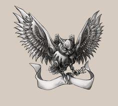 Mechanical Owl by digitalyear on DeviantArt