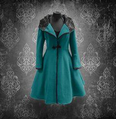 Weiteres - Winterzauber mit diesem Mantel - maßangefertigt! - ein Designerstück von myrockabillymode bei DaWanda