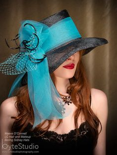 Black Straw Hat Kentucky Derby Hat by BoringSidney Kentucky Derby Fashion, Kentucky Derby Hats, Fancy Hats, Cool Hats, Chapeaux Pour Kentucky Derby, Derby Day, Derby Time, Beauty And Fashion, Stylish Hats