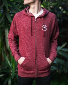 San Pancho zip hoodie in red available in-store and online. #ShopUP #UpperPlayground