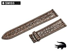 Genuine Crocodileleather Strap for ROLEX watches (for tongue buckle or clasp). Watch band is made of premium quality crocodile leather with a slightly glossy finish. Crocodile, Watch Bands, Omega Watch, Rolex Watches, Brown, Bracelets, Leather, Accessories, Ebay