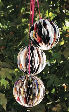 Recycle your magazines into ornaments.