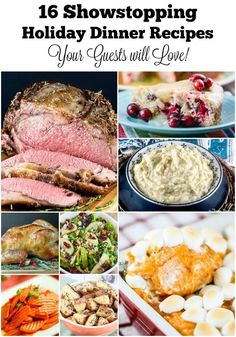 16 Showstopping Holiday Dinner Recipes by Flavor Mosaic Side Dishes For Ribs, Keto Side Dishes, Main Dishes, Thanksgiving Recipes, Holiday Recipes, Dinner Recipes, Game Recipes, Holiday Meals, Holiday Time