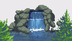 Made an animated waterfall today :D