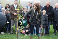 """Princess Mary's launch of the Tree Planting campaign: """"Genplant Planetent"""" @ the Nature Center in Herstedhøje on November 2, 2015. RepliKate Fashion: Barbour Dunnan Quilted Jacket & Le Chameau Vierzonord Wellington Boots."""