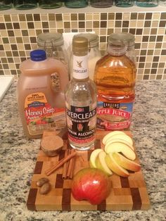 Apple Pie Moonshine...so apparently I should be making it myself. also fireball whiskey peaches!
