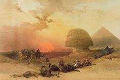 The Sphinx at Giza by David Roberts - Bridgeman Art Library - fineartamerica