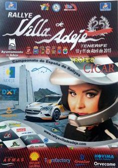 Cartel del 25 Rally Villa de Adeje. | DA