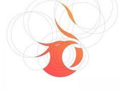 Creative Logo, Design, Phoenix, and Inspiration image ideas & inspiration on Designspiration Best Logo Design, Branding Design, Graphic Design, Logo Design Inspiration, Icon Design, Hive Logo, Logo Tutorial, Logo Process, Typo Logo