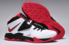 a2430046b7e6 Cheap Nike Zoom Soldier VII White Black Red Lebron 7