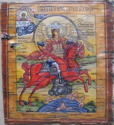 Святой Михаил на бересте