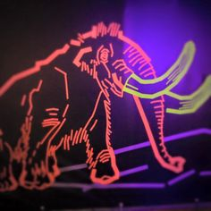 Mammuts im Naturkundemuseum – Tape Art von DUMBO AND GERALD